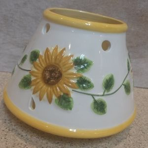 Ceramic candle shade.  Sunflowers.